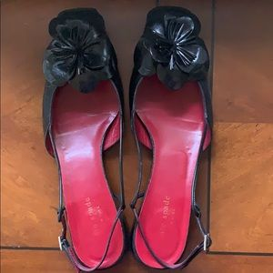 Kate Spade Cara Slingbacks in Black, EUC, size 8